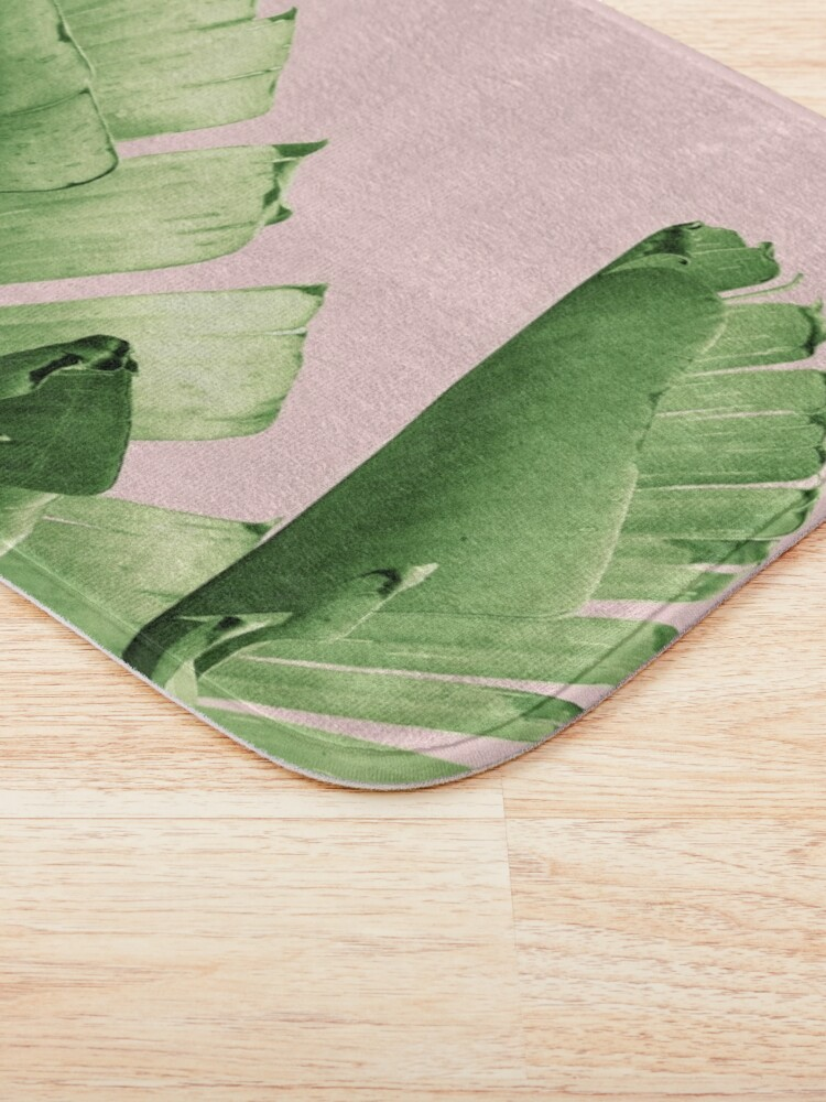 Alternate view of Blush Banana Leaves Dream #12 #tropical #decor #art Bath Mat