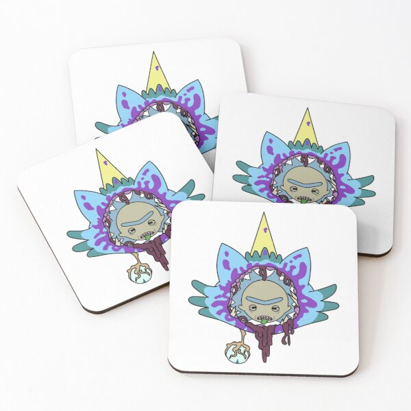 Rick and Morty R.I.P. Chachi Coasters (Set of 4)