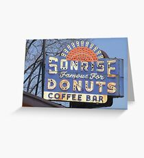 Sonrise greeting cards redbubble sonrise donut sign greeting card m4hsunfo Images