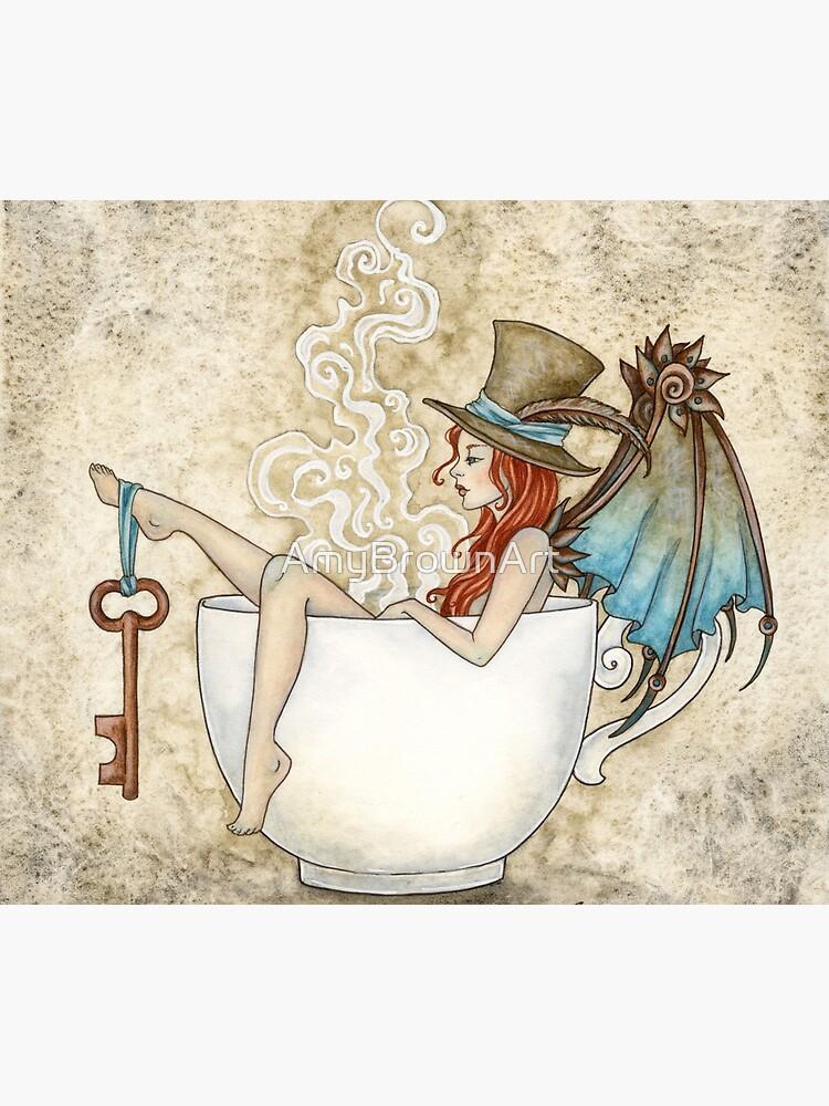 Steam Bath by AmyBrownArt