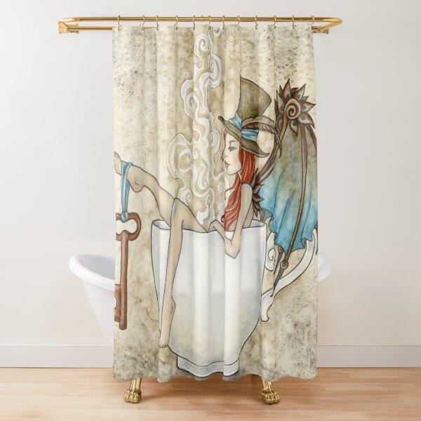 Steam Bath Shower Curtain