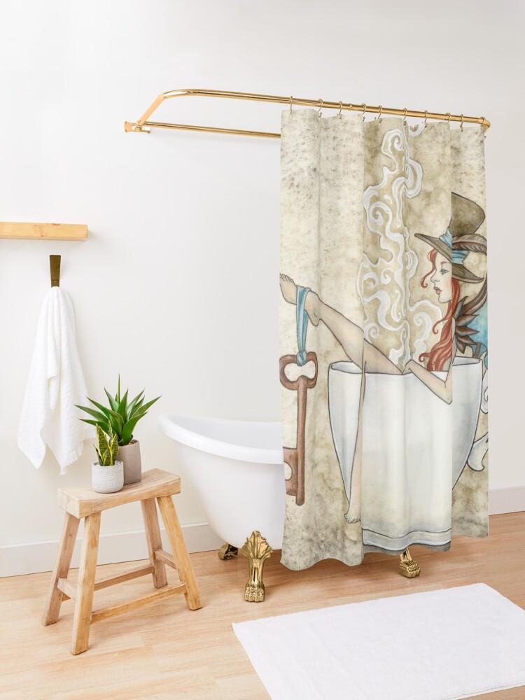Alternate view of Steam Bath Shower Curtain