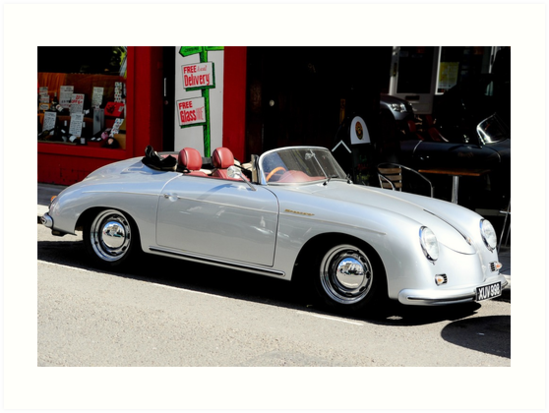 Quot Porsche 365 Speedster Quot Art Prints By Mwhitham Redbubble