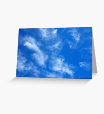 Only the blue sky with cirrus clouds Greeting Card