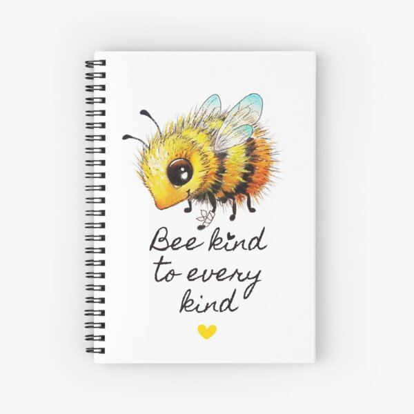 Bee by Maria Tiqwah Spiral Notebook