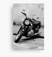 Old Triumph Bonneville Motorbike Canvas Print