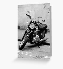 Old Triumph Bonneville Motorbike Greeting Card