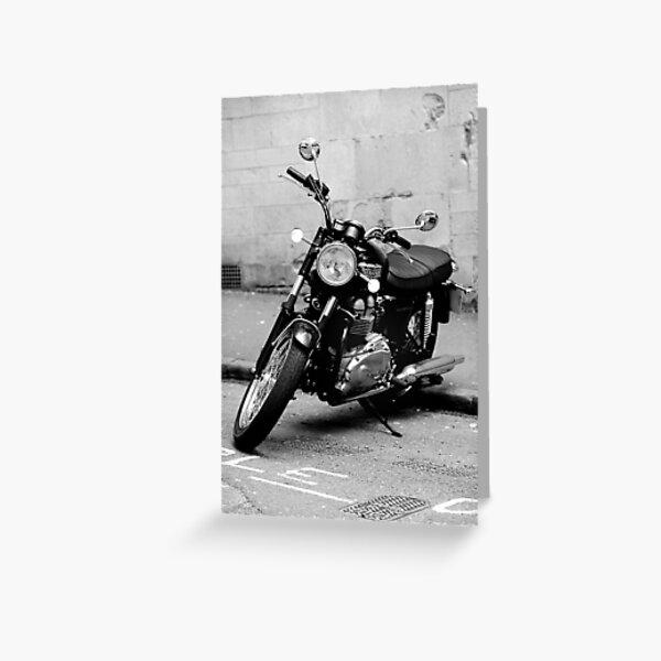 Old Triumph Bonneville Motorbike Greeting Card