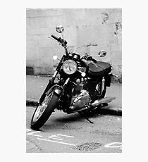 Old Triumph Bonneville Motorbike Photographic Print