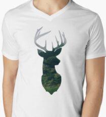 Very Deerly Mens V-Neck T-Shirt