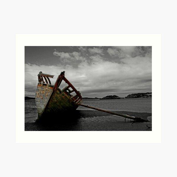 Stranded boat, Dungloe, Donegal Art Print