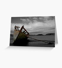Stranded boat, Dungloe, Donegal Greeting Card