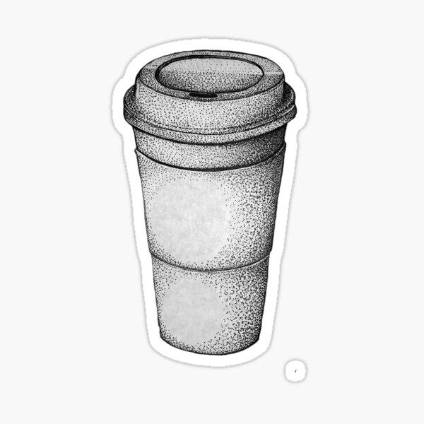 Coffee Cup - Stippling Sticker