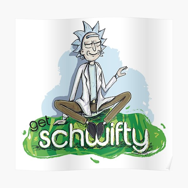 Relaxing rick, Rick and Morty Poster