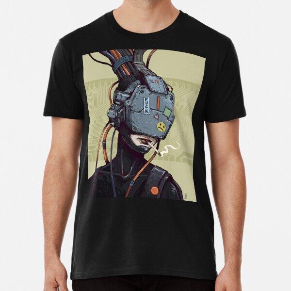 Future dystopian cyberpunk anime design Premium T-Shirt