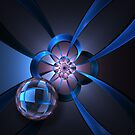 Portal with Blue Glass Ball by Pam Blackstone