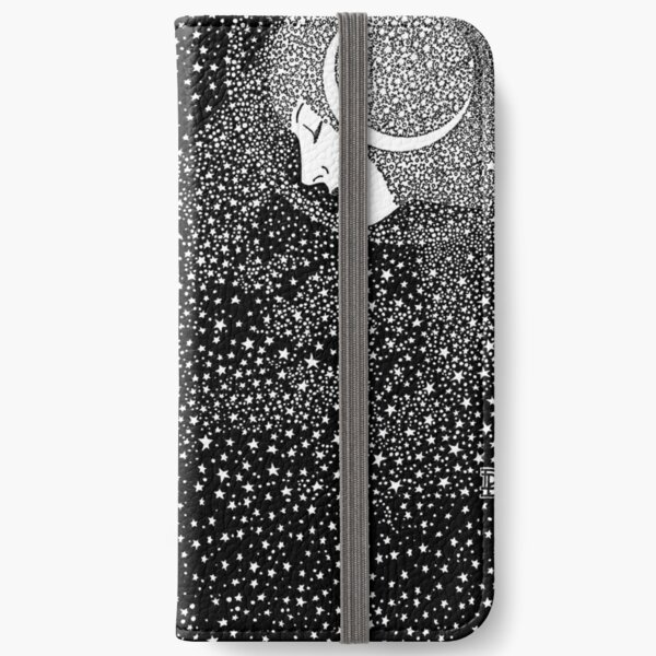 Lady of the Night - white iPhone Wallet