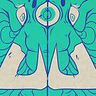 Third Eye Elephant - Blue by cargorabbit