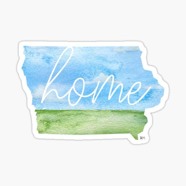 Iowa Home State Sticker