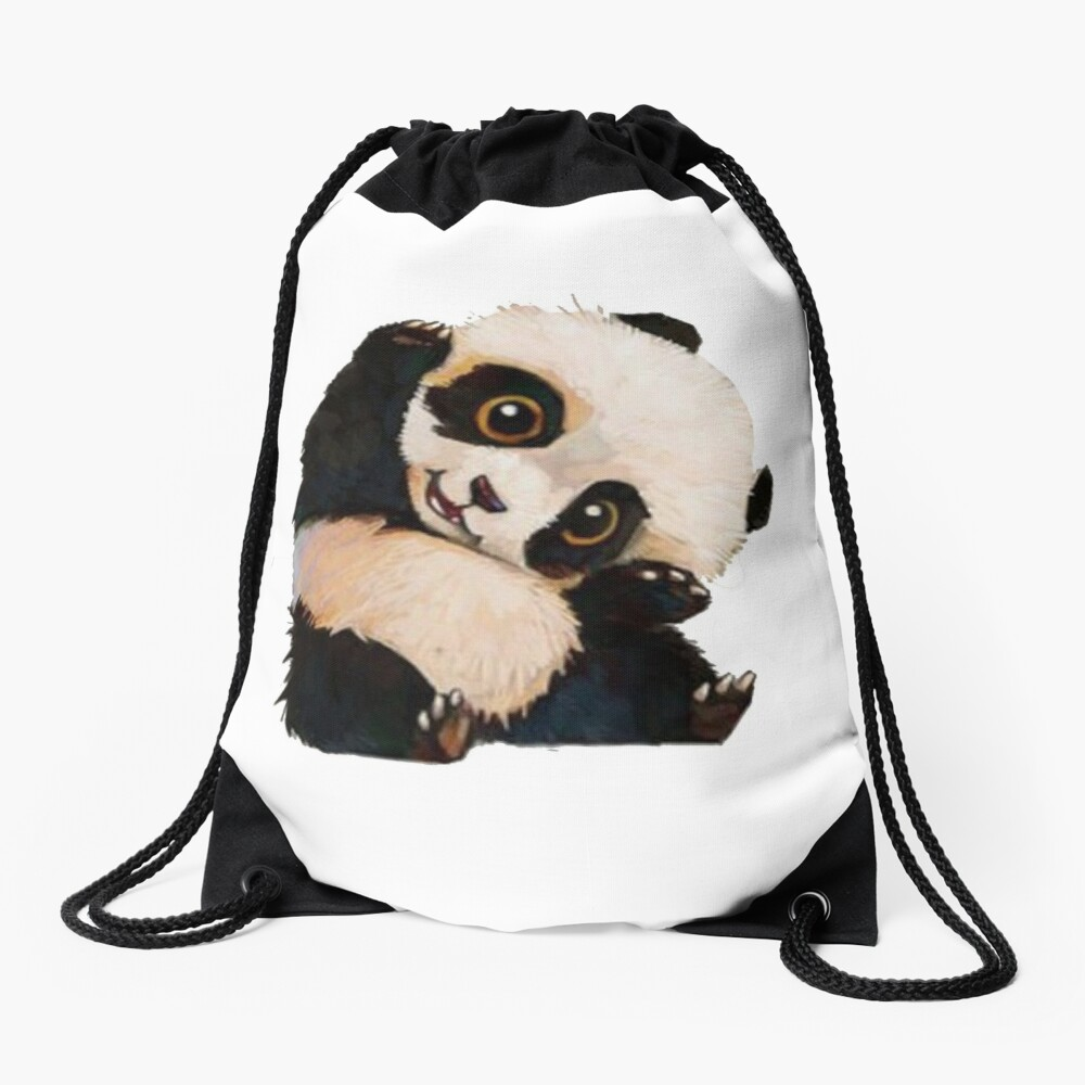 Cute panda Drawstring Bag