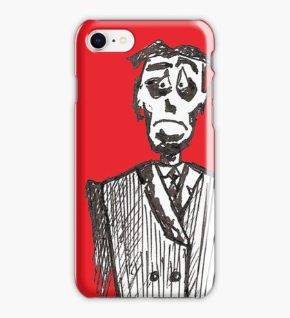 Sad Man (b) iPhone Case/Skin