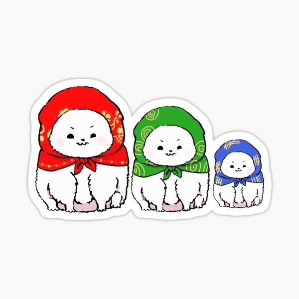 Fluffy Matryoshka  Sticker