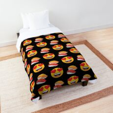 Love Sushi Emoji JoyPixels Funny Sushi Lover Comforter