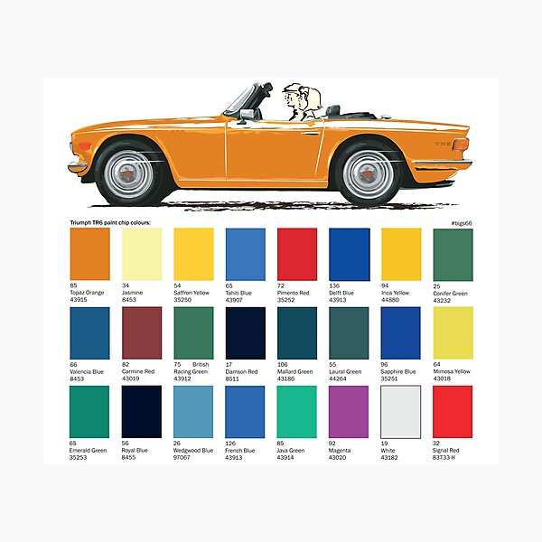 Topaz Orange  coloured TR6 UK spec Photographic Print