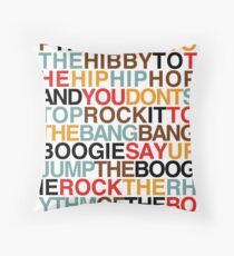 Rapper's Delight - Sugarhill Gang Throw Pillow