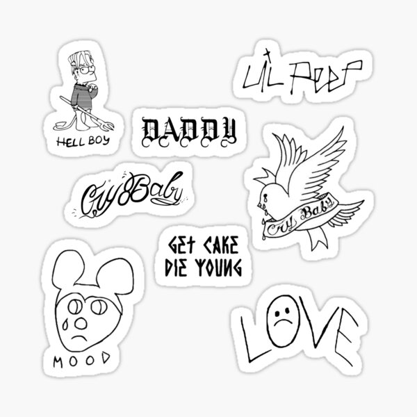 Lil Peep Tattoos Sticker Pack Sticker