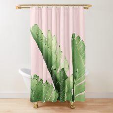 Blush Banana Leaves Dream #12 #tropical #decor #art Shower Curtain