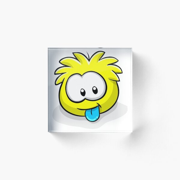 Club Penguin Yellow Puffle Acrylic Block