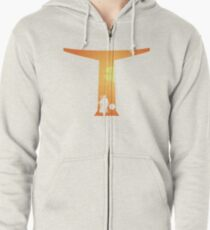 The Bounty Hunter and The Child Zipped Hoodie