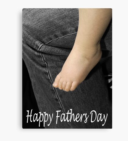 Happy Fathers Day card Canvas Print