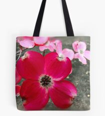 Red Dogwood flower Tote Bag