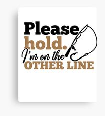 Svvy Turtle Please Hold Im On the Other Line Canvas Print