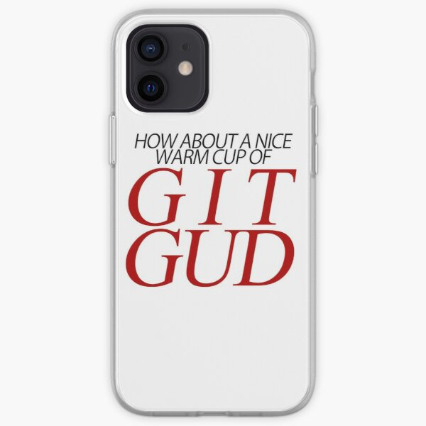 A Nice Warm Cup of Git Gud (Version 1) iPhone Soft Case