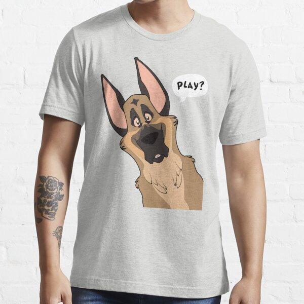 Grinning German Shepherd Dog Essential T-Shirt