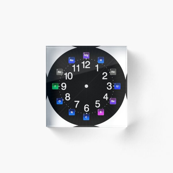 #Chemical #Elements Wall #Clock Acrylic Block