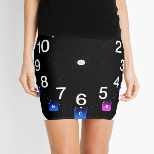 #Chemical #Elements Wall #Clock Mini Skirt