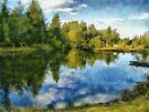 Lac Tardif painting by Aimelle