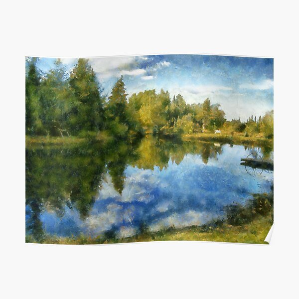 Lac Tardif painting Poster