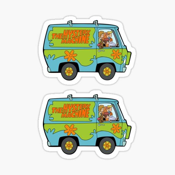 Scooby Doo Mystery Machine, Shirt, Sticker, Mask Sticker