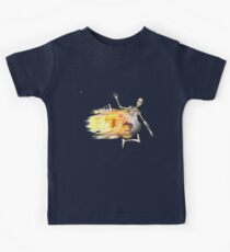 Flaming Soccer Ball Kids Tee