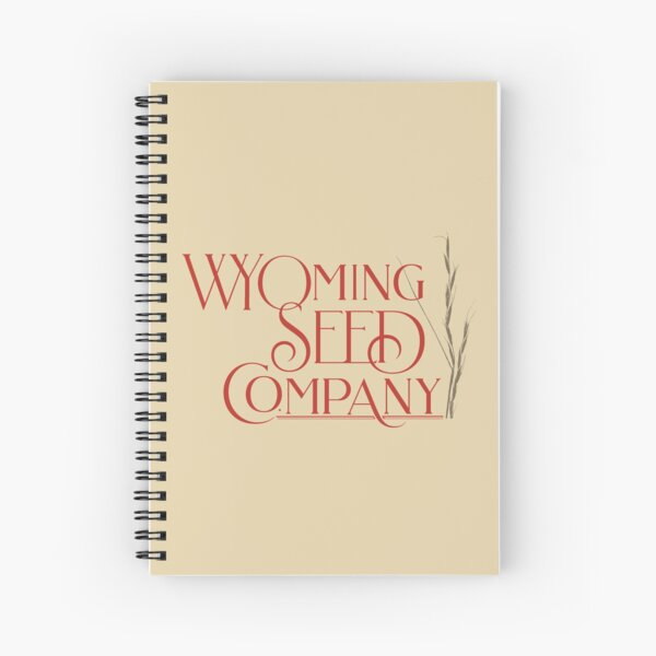 Wyoming Seed Orange and Brown Logo Spiral Notebook
