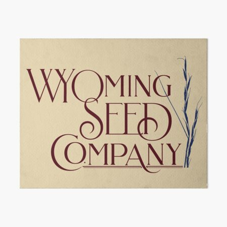 Wyoming Seed Company Red And Blue Logo Art Board Print
