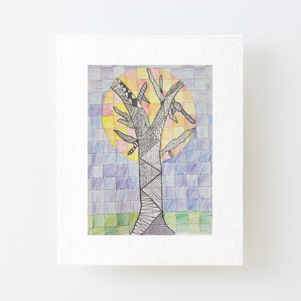 The Mystical Tree of Art and Life Canvas Mounted Print