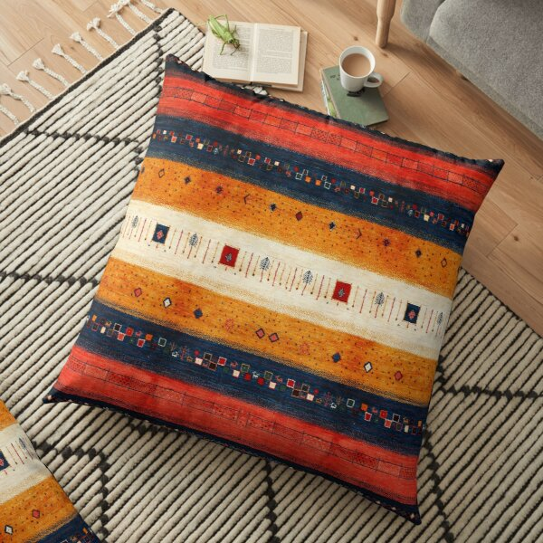 Traditional Moroccan Antique Artwork by ARTERESTING Floor Pillow