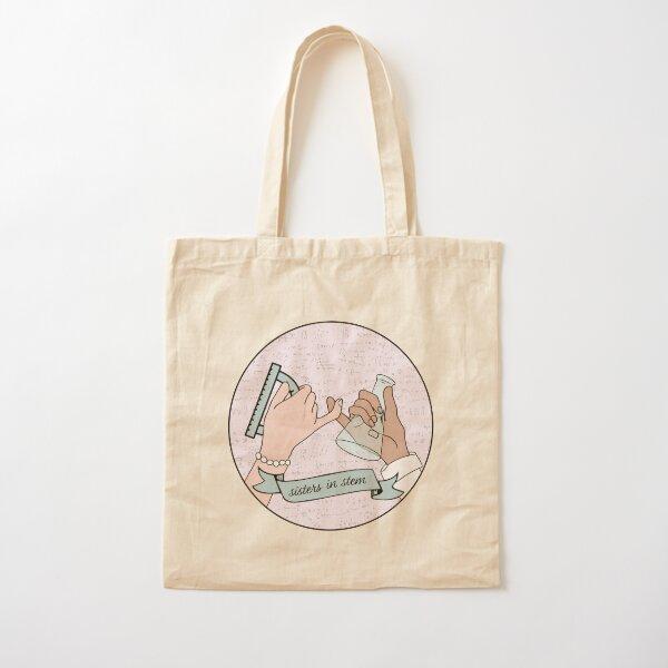 sisters in stem Cotton Tote Bag