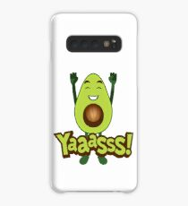 Yaaasss Avocado Emoji JoyPixels Happy Avocado  Case/Skin for Samsung Galaxy
